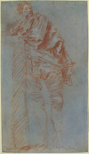 Man Leaning on a Wall (recto)