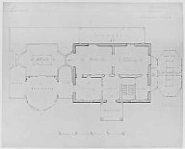 Designs for House of L. M. Davenport, New Rochelle, in the Tuscan Style (ground plan)