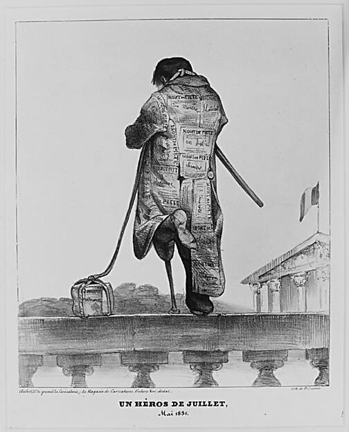 Un héros de juillet, Mai 1831, published in La Caricature
