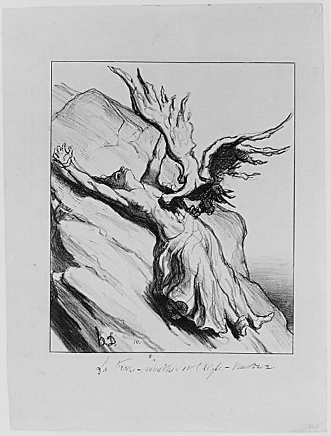 Fascinating Historical Picture of Honor Daumier with La France Promthe et lAigle-Vautour (France Prometheus and the Vulture) on 2/13/1871