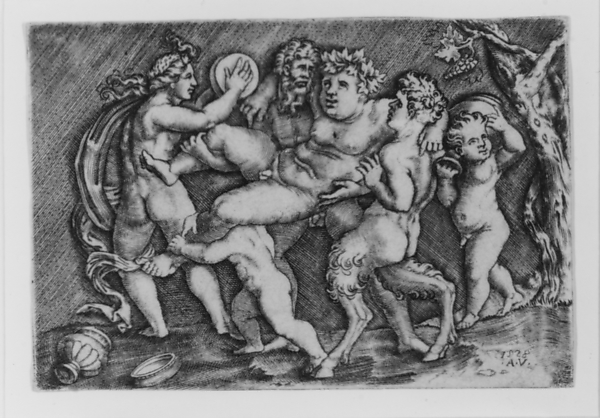 Bacchus Carried by Two Satyrs