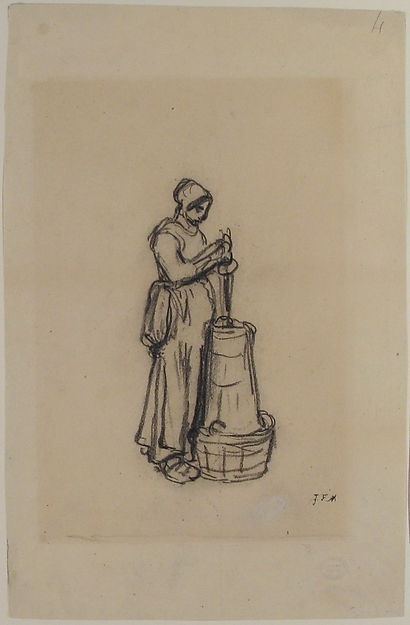 Woman with a Churn