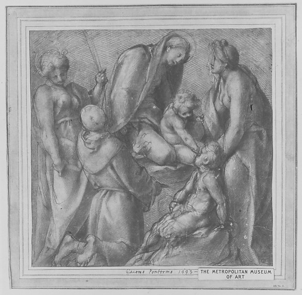 Virgin and Child with Saint Elizabeth, the Infant Baptist, Saint Anthony of Padua, and a Female Martyr