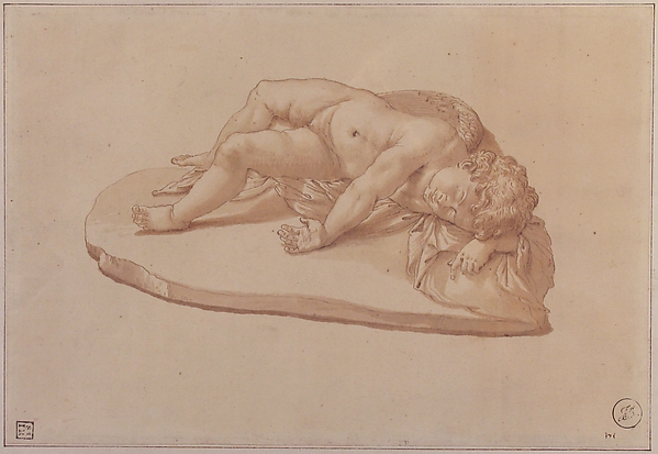 Sleeping Eros, after an Antique Sculpture