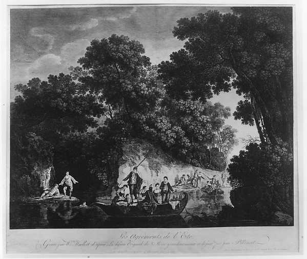 Fascinating Historical Picture of Jean Pillement with The Pleasures of Summer (Les Agrments de t) in 1759
