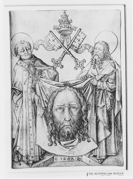 The Sudarium with St. Peter and St. Paul