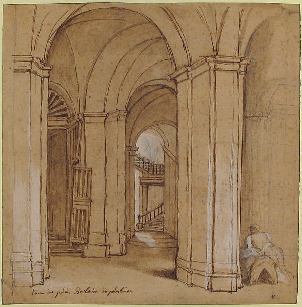 Staircase in the Palazzo Barberini, Palestrina