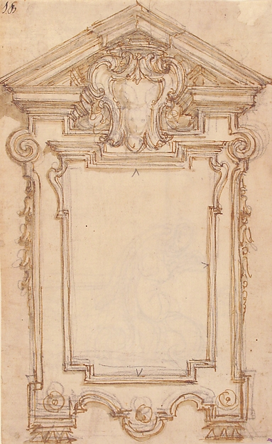 Design for a Frame or Epitaph (recto); Caryatid Supporting a Frame (verso)