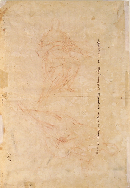 The Holy Trinity (recto); Studies of Seated Female Figures (the Virgin and another Saint?) (verso)