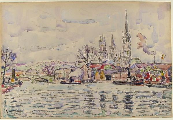 River scene:  Rouen