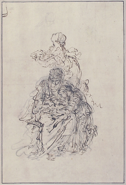 Studies for an Education of the Virgin: Saint Anne Teaching the Virgin to Read