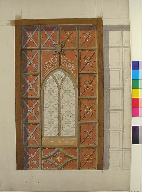 Design for Elevation of Window, Saint Clotilde