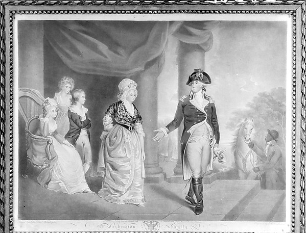 Fascinating Historical Picture of Edward Bell with The Washington Family on 12/1/1800