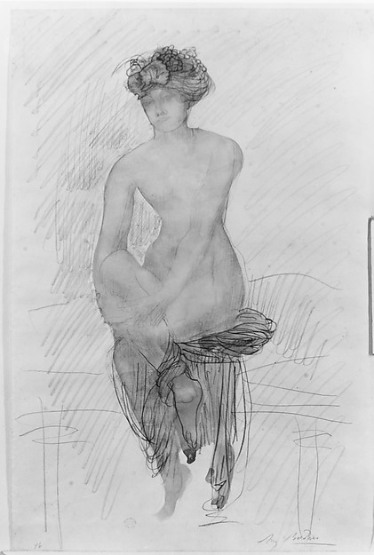 Girl Seated; full front