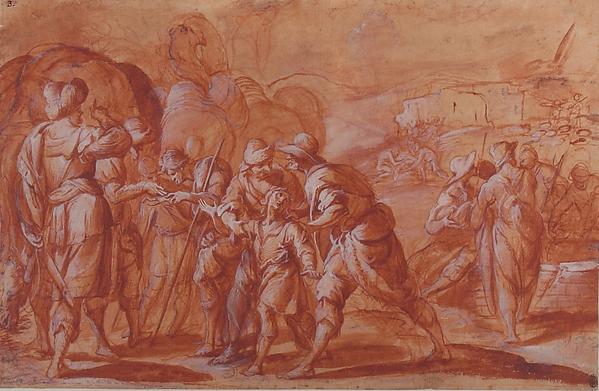 Fascinating Historical Picture of Giovanni Battista Discepoli with Joseph Sold by His Brethren in 1590