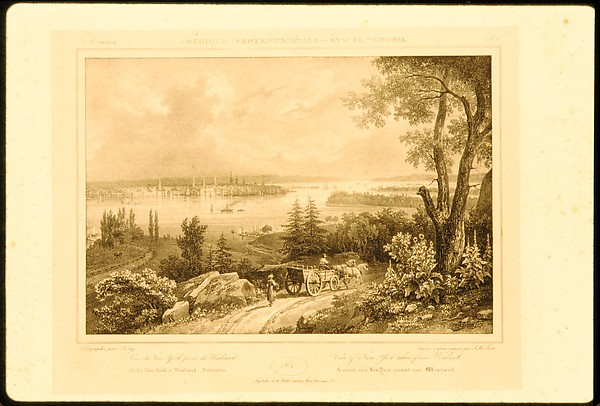 View of New York taken from Weehawken (Amérique Septentionale - État de New-York, plate 1)