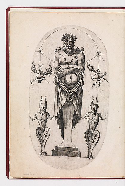 Fascinating Historical Picture of Jean Mignon with Designs for Terms in 1543