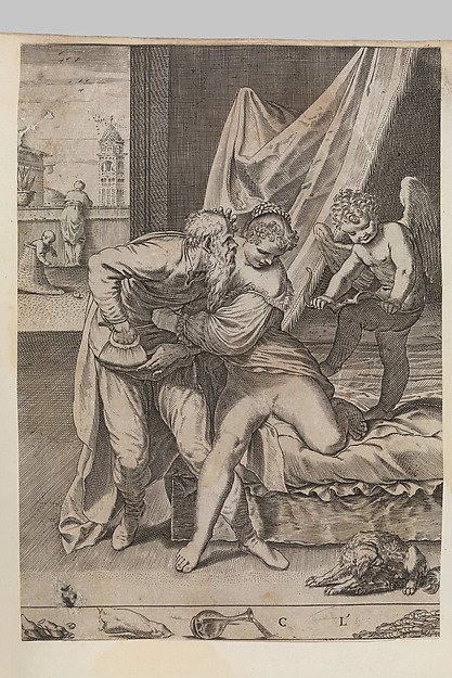 Fascinating Historical Picture of Agostino Carracci with Ogni cosa vince loro in 1590