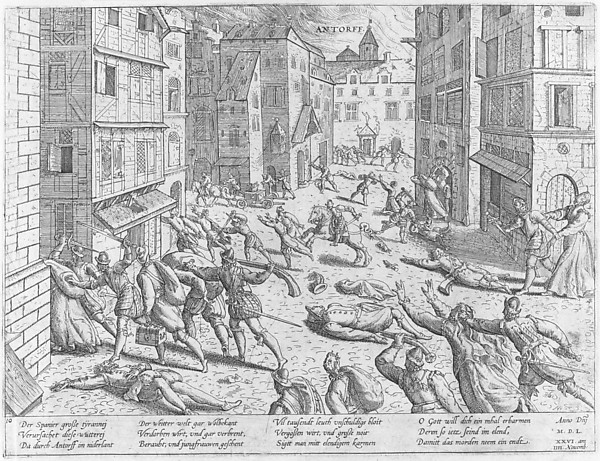The Sack of Antwerp from Events in the History of the Netherlands, France, Germany and England between 1533 and 1608