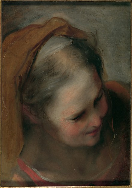 Head of an Old Woman Looking to Lower Right