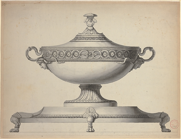Design for a Covered Tureen on a Footed Stand