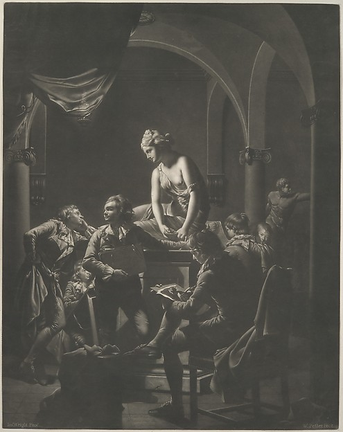 Fascinating Historical Picture of Joseph Wright with An Academy by Lamplight on 2/20/1772