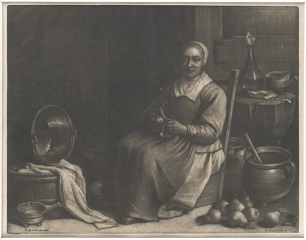 A Woman Peeling Pears