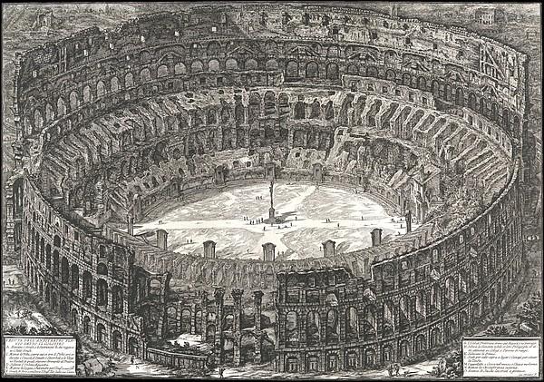 Veduta dell'Anfiteatro Flavio detto il Colosseo, from: 'Vedute di Roma' (Views of Rome)