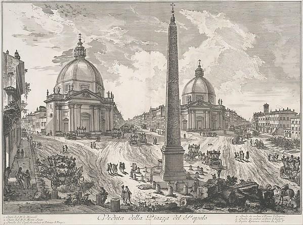 The Piazza del Popolo (Veduta della Piazza del Popolo)