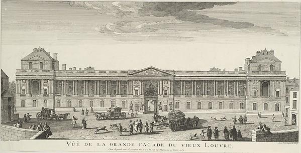 Vue de la Grande Façade du Vieux Louvre