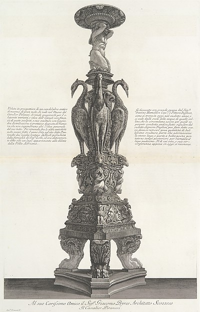 Vasi, candelabri, cippi, sarcofagi, tripodi, lucerne, ed ornamenti antichi disegnati ed incisi dal Cav. Gio. Batt. Piranesi, Vol. II (Vases, candelabra, grave stones, sarcophagi, tripods, lamps, and ornaments designed and etched by Cavalieri Giovanni Battista Piranesi)