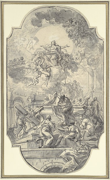 Fascinating Historical Picture of Francesco de Mura with The Assumption of the Virgin in 1751
