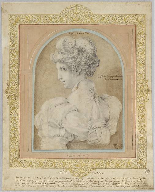 Bust of a Woman with an Elaborate Coiffure.