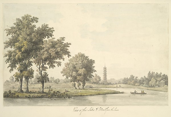 View of the Lake and the Island from the Lawn at Kew