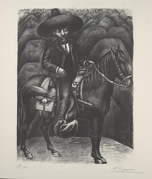 Emilio Zapata on horseback