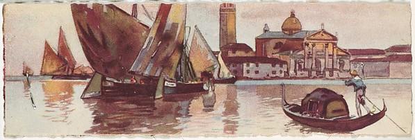 Venice, Sailboats and Gondola in front of San Giorgio Maggiore