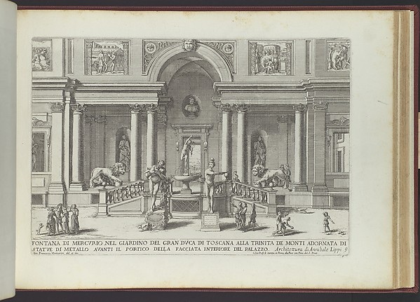 Le Fontane ne' Palazzi e ne' Giardini di Roma con li Loro Prospetti et Ornamenti
