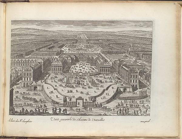 Veüe generale du chateau de Versailles
