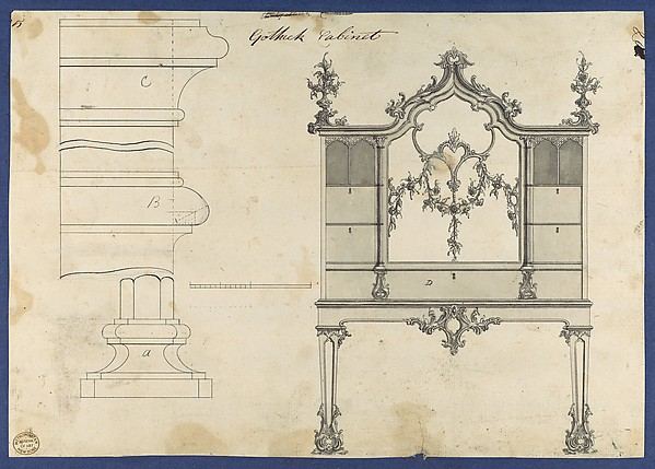 Gothick [Gothic] Cabinet, from Chippendale Drawings, Vol. II