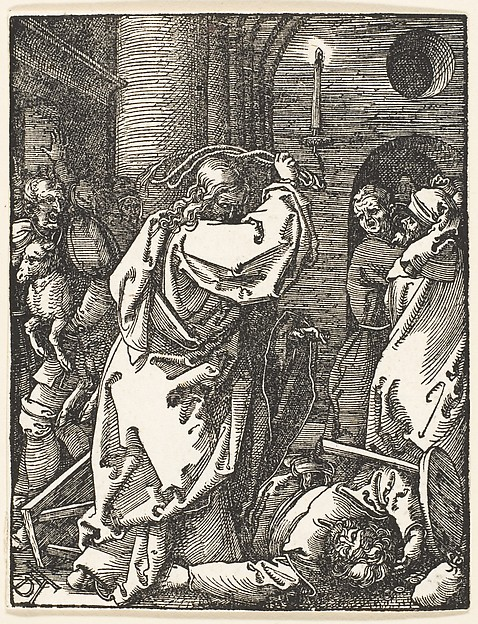 Christ Expelling the Money Lenders, from The Small Passion