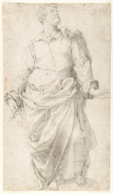 Study for the Figure of Saint Peter