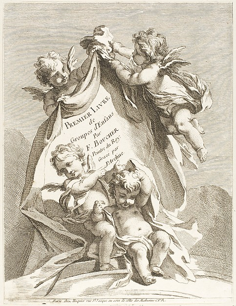 This is What Pierre Alexandre Aveline and Frontispiece Looked Like  in 1727