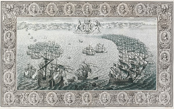 The Tapestry Hangings of the House of Lords Representing the Several Engagements Between the English and Spanish Fleets...