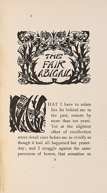 At the Ghost Hour. The Fair Abigail