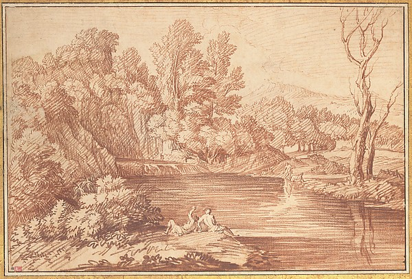 Landscape with Figures on the Bank of a River