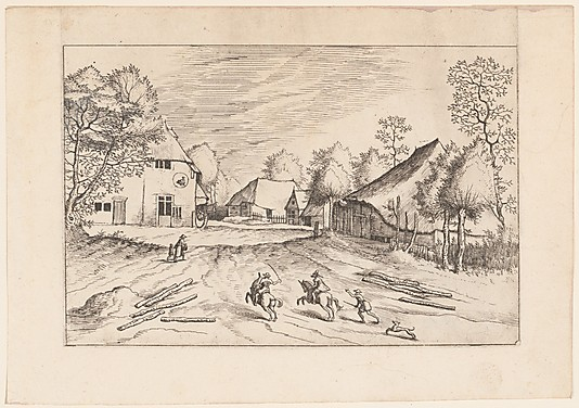 The Swan's Inn with Farms from the series The Small Landscapes