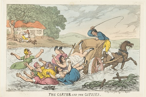 Fascinating Historical Picture of Thomas Rowlandson with The Carter and the Gipsies on 5/10/1815