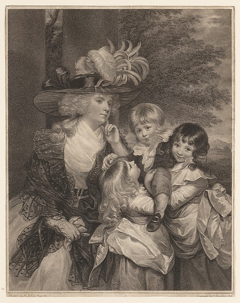 Fascinating Historical Picture of Sir Joshua Reynolds with Lady Smith and her Children on 3/15/1789