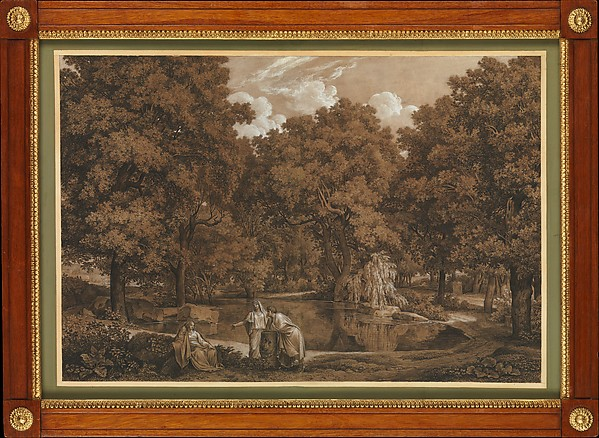 Arcadian Landscape with Three Figures at a Lake