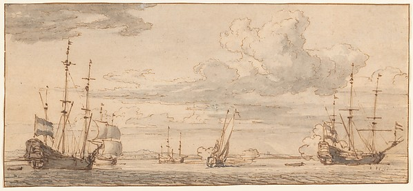 Dutch Ships in a Bay
